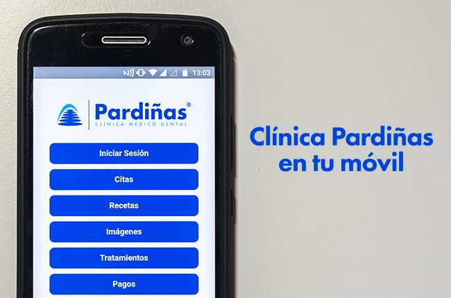 We present the Pardiñas Medical Dental Clinic app, an application that will allow patients to access their information from the Smartphone