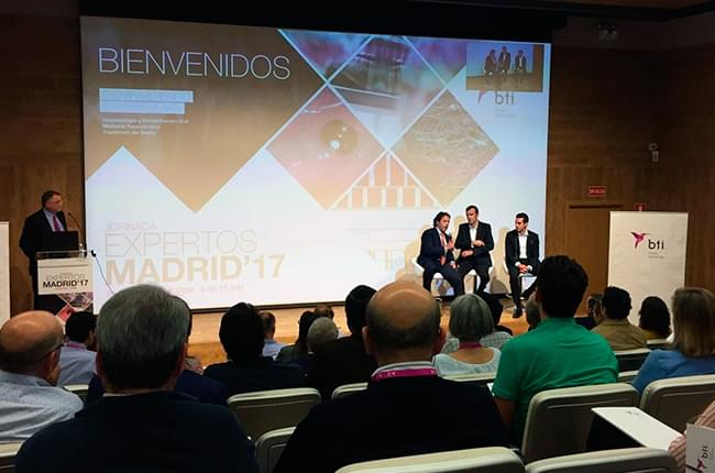 O Dr. Pardiñas, relator no Meeting BTI Madrid