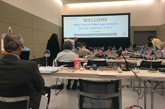 Hands-on about vertical bone regeneration in the annual meeting of the American Academy of Periodontology