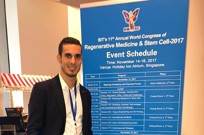 Dr. Simón Pardiñas López attended as a speaker at a congress on regenerative medicine and stem cells in Singapore.