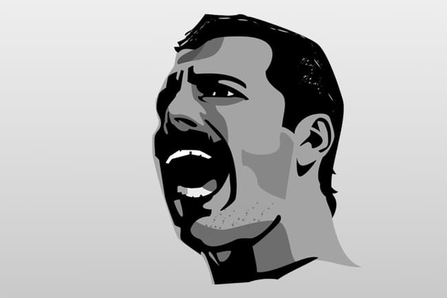 Representation of Freddie Mercury