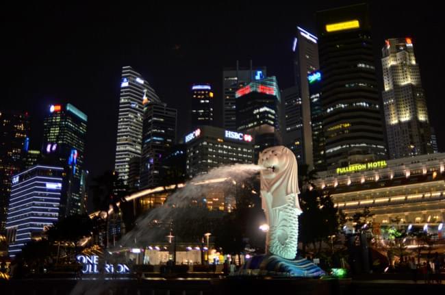 Merlion de Singapur. Foto de nuestro colaborador Sergio Otegui.