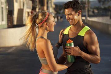 salud bucodental de dos personas deportistas